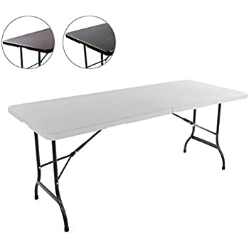 tisch klappbar kunststoff wei 76x182 cm partytisch buffettisch klapptisch garten. Black Bedroom Furniture Sets. Home Design Ideas