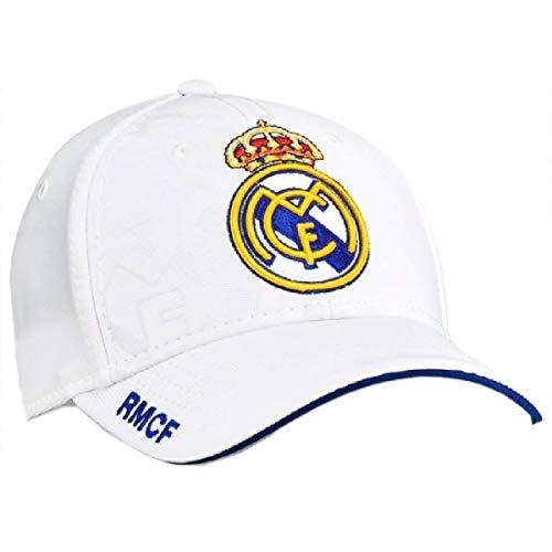 Gorra Real Madrid junior blanco primer equipo escudo