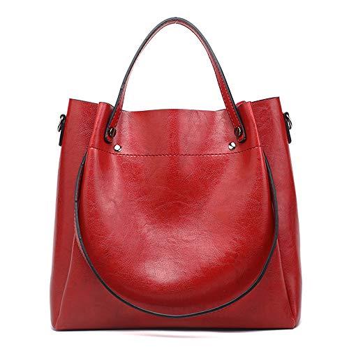 Cawmixy Hobo Damen Umhängetasche, weich, klassisch, für Damen, Rot (new red), Medium -