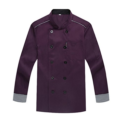 camisa-de-cocinero-cocina-uniforme-manga-larga-morado
