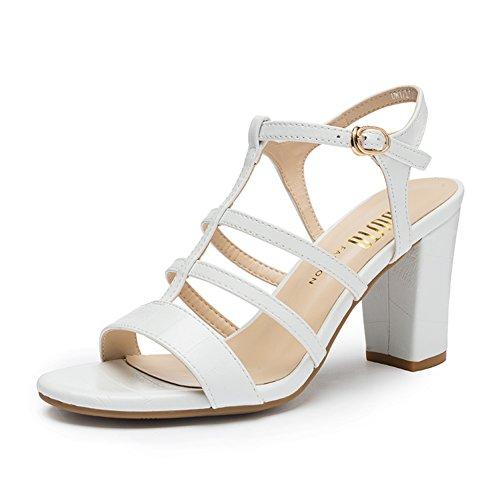 Dames Chunky Talons Hauts Talons, Chaussures De Gladiateur , Sandale A