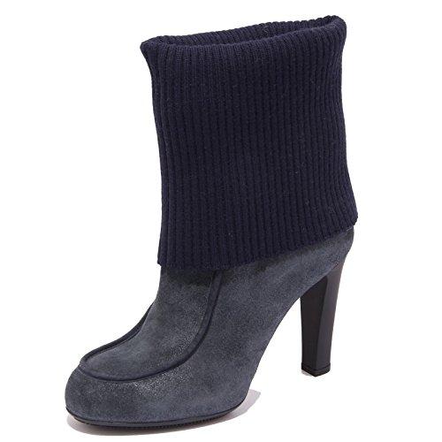 62228 stivale donna HOGAN lana scarpe stivali boots shoes women BLU DENIM