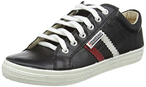Kawasaki Slam Leather, baskets sportives mixte adulte Noir (Black)