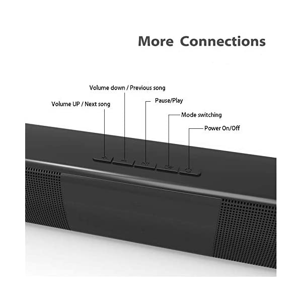 40W Surround TV Sound Bar Wireless Bluetooth Home For PC Phone TV With AUX/&RCA