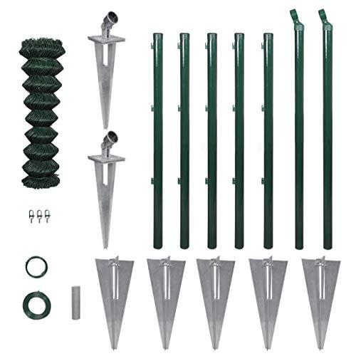vidaXL Kit de Grillage de Jardin avec Supports à enfoncer et Accessoires 0,8 x 15 m