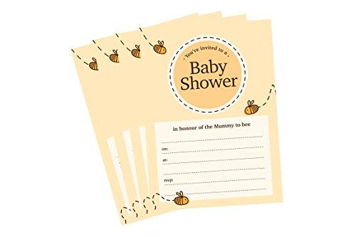 he Einladungen Einladungen Cute Mummy to be A610Stück (Bumble Bee Baby-dusche)