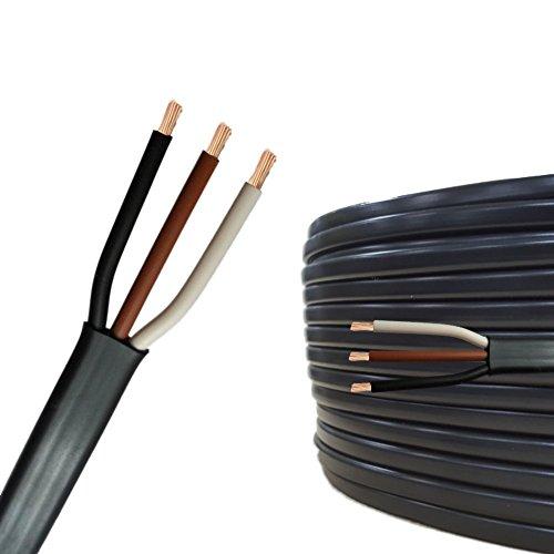 AUPROTEC 10m Flachkabel 3 adriges Elektrokabel Anhängerkabel 3 x 0,75 mm²