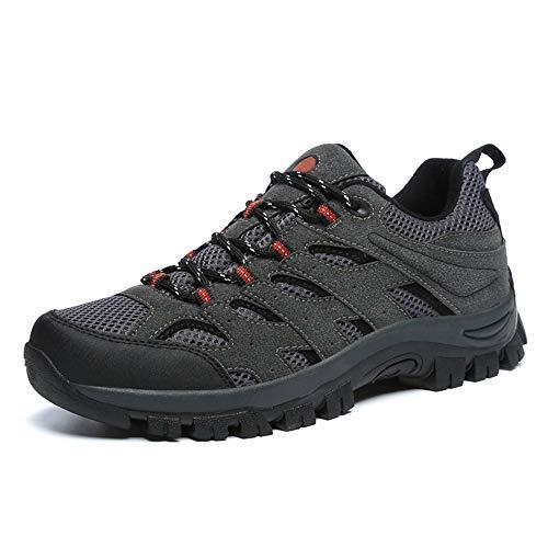 Scarpe da Trekking da Uomo Antiscivolo Traspiranti Calzature Corsa Arrampicata Escursionismo Passeggio Lavoro Sportive All'aperto Sneakers Grigio EU 46