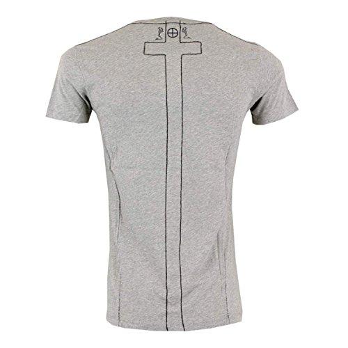 Religion Männer T-Shirt Plain V Neck PLV 06 X grey marl - figurbetont Grey Marl