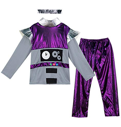 Bumble Kostüm - Mombebe Cosland Roboter Jungen Kostüm Karnavel Set (Roboter, L)