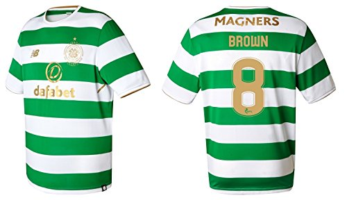 Trikot Herren Celtic Glasgow 2017-2018 Home - Brown 8 (M) (Celtic Home Trikot)