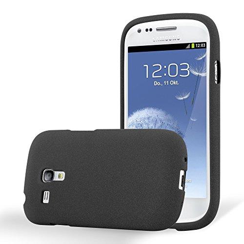 Cadorabo Custodia per Samsung Galaxy S3 Mini in Frost Nero - Morbida Cover Protettiva Sottile di Silicone TPU con Bordo Protezione - Ultra Slim Case Antiurto Gel Back Bumper Guscio