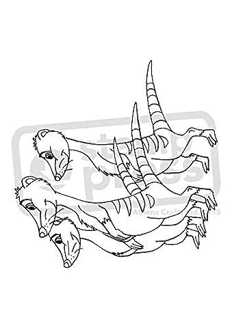 A7 'Famille de Meerkats' tampon / timbre en caoutchouc (non monté) (SP00009196)