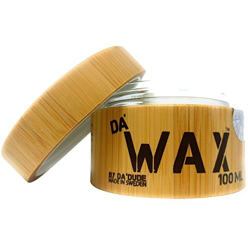Da'Dude Da' Wax Super Strong Hold Men's Styling Hair Wax - Natural Matte Finish with Texture and Separation - Best Salon Professional Product in a Delux Wooden Gift Tub - 100ml