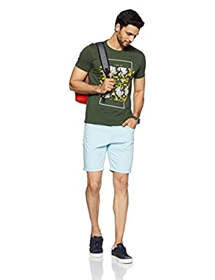 V Dot Men's Printed Slim Fit T-Shirt
