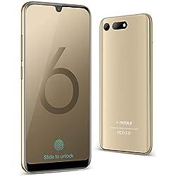 Télephone Portable Debloqué 32Go + 3Go Quad-Core Smartphone Face ID Android 8.1, Smartphone Pas Cher 4G,5.75''HD Plein écran 2019 Dual Nano SIM Double Caméra