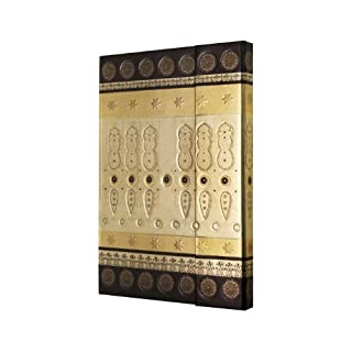 Sigel CO512 CONCEPTUM Notebook, approx. A5, plain, hardcover, magnetic fastener, design Marrakesh Black Oriental, black/gold with pattern