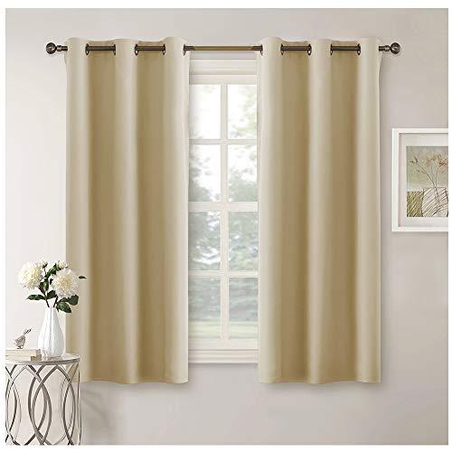 Pony dance 2 pannelli di tende moderne per soggiorno tendaggi termiche isolanti freddi con anelli tessuti 100% poliestere (106 x 158 cm, beige)