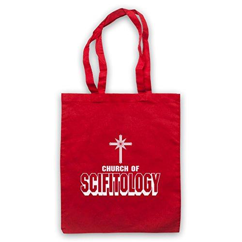 Church Of Scifitology Sci-Fi Lover Parody Umhangetaschen Rot