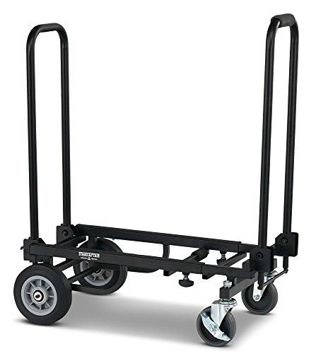 Stagecaptain SCS-60 Sherpa Transportwagen (Sackkarre, Höhe: 77 cm, Länge: 55 cm und 85,5 cm, Antirutschband auf Ladefläche, Arretierung für Ladefläche per Fuß bedienbar, Gewicht: 8,1 kg) schwarz (4-rad 22)