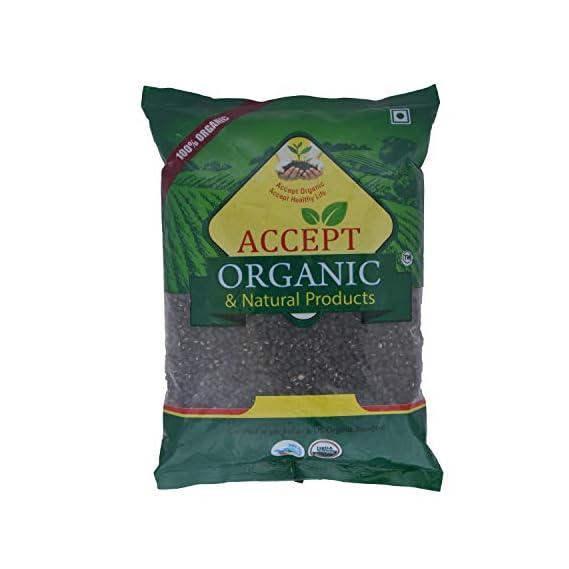 Accept Organic Urad Whole / Black Gram Whole -0.5 KG