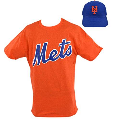 Major League Baseball Fan Shop Majestic Team T-Shirt und verstellbare Kappe Bundle, New York Mets - World Baseball Classic T-shirts