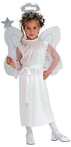 Weihnachtsengelkostüm für Mädchen mit Band, Flügeln und (Baby Halo Kostüm)