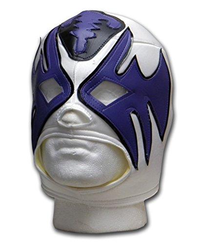 Luchadora Atlantico weiß Lila Schwarz Maske Lucha Libre Mexikanische Wrestling