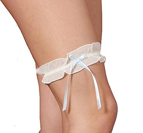 Pure Silk Garter-Wedding Garters for Brides Blue by Silk Cocoon