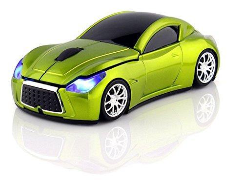 Klein Design FTD-MS127 Auto Style optische Maus/Mouse schnurlos/Wireless grün - Grüne Maus