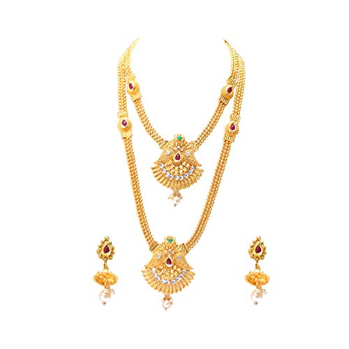 Swarajshop Copper Gold-Plating Necklace Set for Women's