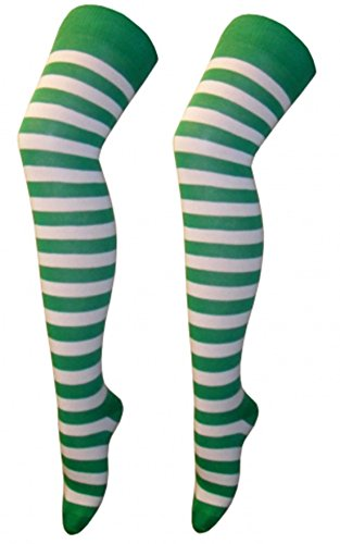 st-patricks-day-irish-green-white-otk-stripe-socks-fancy-dress-party-costume-accessory