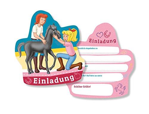 6 Einladungskarten * BIBI & TINA * für Kinderparty und Kindergeburtstag von DH-Konzept // Blocksberg Einladungen Invites Party Set