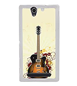 ifasho Designer Phone Back Case Cover Sony Xperia C3 Dual :: Sony Xperia C3 Dual D2502 ( White Leather Look Button Style )