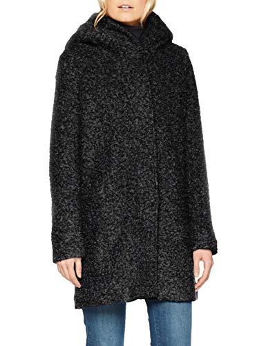 ONLY NOS Damen Mantel onlSEDONA Boucle Wool Coat OTW NOOS, Schwarz (Black Detail:Melange), 34 (Herstellergröße: XS) - 4