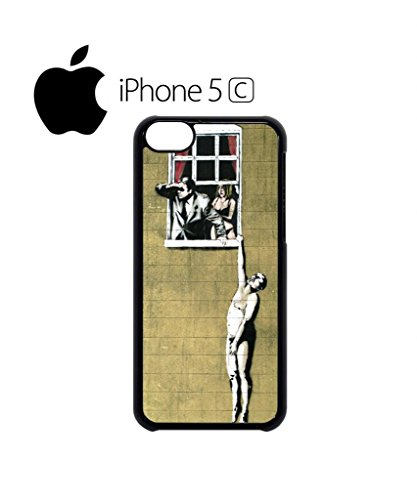 Banksy Naked Man Husband and Wife Cell Phone Case Cover iPhone 5c Black Schwarz
