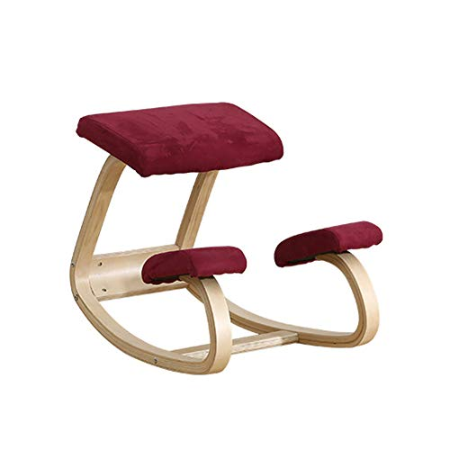 Silla ergonómica rodillas,Taburete de madera con posturas mecedoras p