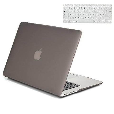Gosin® 2 in 1 Ultra Slim Matte Plastic Rubberized Hard Protective Case Cover & Keyboard Skin for Macbook Air 13''