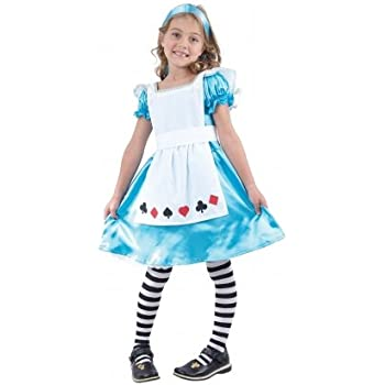 Childrens Alice In Wonderland Fancy Dress Costume Fairy Tale Outfit 4-6 Yrs  sc 1 st  Amazon UK & Childrens Alice In Wonderland Fancy Dress Costume Fairy Tale Outfit ...