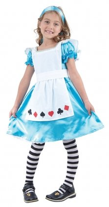 Child U37 793 - Disfraz de Alicia en el país de las Maravillas, para niña, talla 7 - 9 años