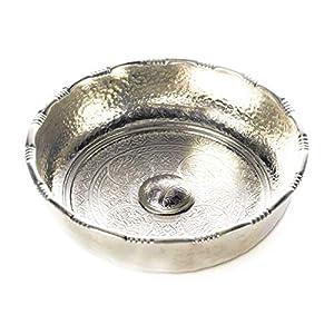 Carenesse Hamamschale – Wasserschale – Tas – Kupfer verzinnt, Dekoschale, Durchmesser 20 cm