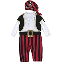 MOMBEBE COSLAND Baby Boys Pirate Romper Halloween Costumes 4 Pieces