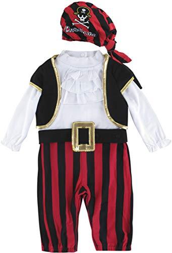 MOMBEBE COSLAND Mono Niño Disfraz Pirata Bebé Manga Larga Gorro Algodón (Pirata,...