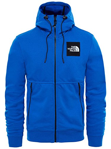 The North Face Herren M Fine Full Zip Hoodie Kapuzenjacke Bright Cobalt Blue