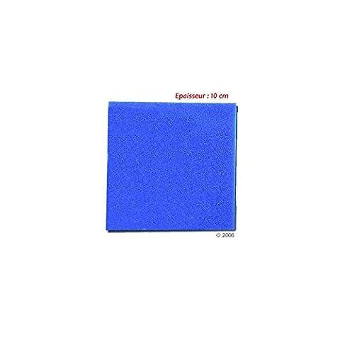 Mousse bleue : 25 X 25 X 10 alvéolage fin : 30 ppi aquarium et bassin
