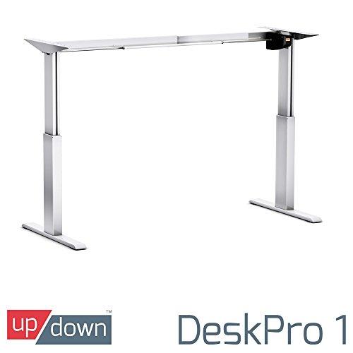 Up/Down, 1| Best höhenverstellbar Elektrische stehend desk| [nur Rahmen] silber