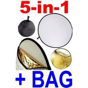 Neewer® 32-Zoll-80CM Tragbare 5 in 1 Durchlässig, Silber, Gold, Weiß und Schwarz Faltbare Runde Multi Disk Licht-Reflektor für Studiofotografie oder jede Situation