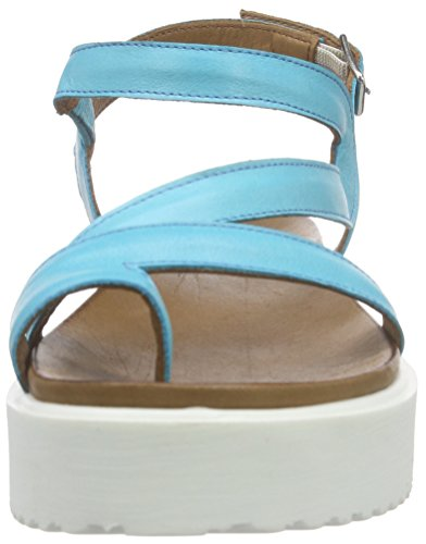 Inuovo 6104, Sandales Plateau femme Turquoise - Turquoise