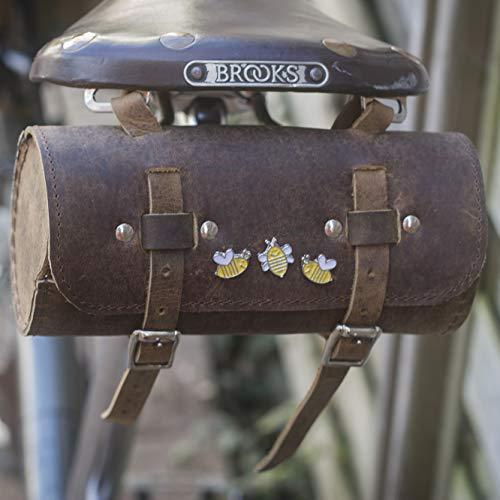 London Craftwork - Sillín para Bicicleta (Piel, edición Limitada), diseño de Abejas