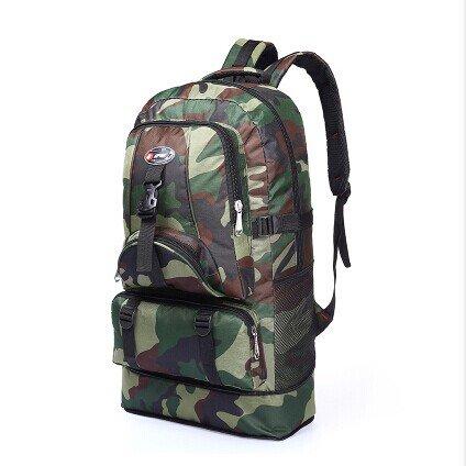 Dlflyb Camouflage Reiten Rucksack Outdoor Travel Rucksack Super Kapazität Männer Und Frauen 60 L Bergsteigen Tasche Three color camouflage
